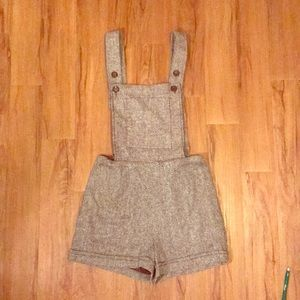 Other - Light brown tweed overalls